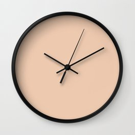 Pale Pink Desert Sand Color Wall Clock