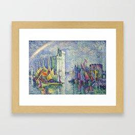 "Paul Signac  ""Arc-en-ciel, La Rochelle, le Port"" Framed Art Print"