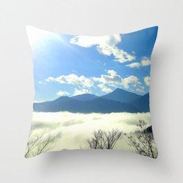 Winter in Slovenia Throw Pillow