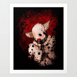 Clown's Secrets Art Print