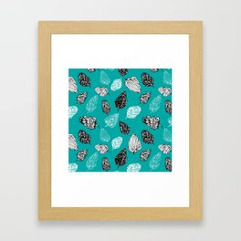 Scribble pattern Framed Art Print