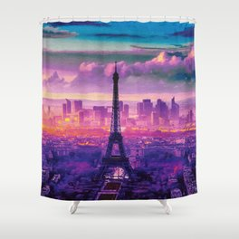 Beautiful Paris Shower Curtain