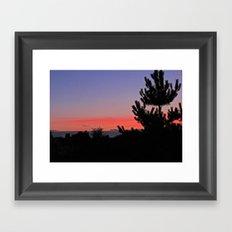July Sunrise over London Framed Art Print