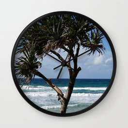 A Single Seaside Tree Wall Clock