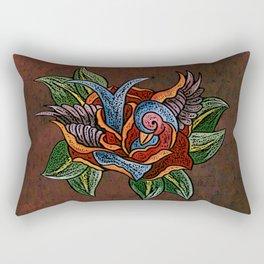 Sparrow Rose One Remix Rectangular Pillow