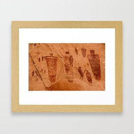 Horseshoe Canyon Great Gallery Group 2 Pictographs Framed Art Print