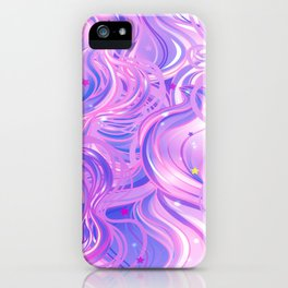 Pink & Purple Waves in the Stars iPhone Case