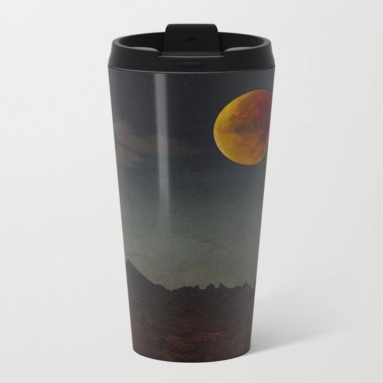 Blood Moon Rising Metal Travel Mug