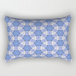Blue Circle Cells Geometrical Pattern Rectangular Pillow