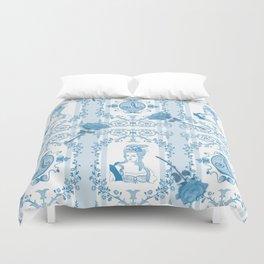 Marie-Antoinette Monogram (Aqua) Duvet Cover