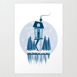 Little Worlds - Snow Art Print