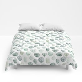 Green Gemstones Comforters