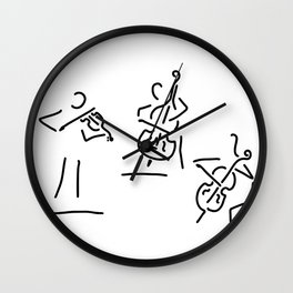 violinist cellist string player contrabass Wall Clock