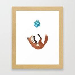 Blue Fox Framed Art Print