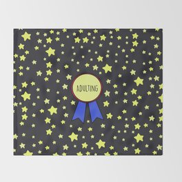 Adulting Award Throw Blanket