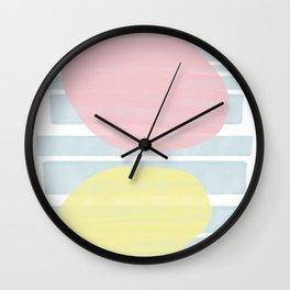 Pastel Vibes #society6 #abstractart Wall Clock