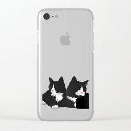 Fancy-Shmancy Tuxedos Clear iPhone Case