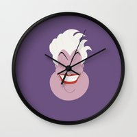 ursula Wall Clocks featuring Ursula by TheVillains
