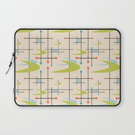 Mid Century Modern in Lime and Blush Laptop Sleeve
