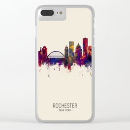 Rochester New York Skyline Clear iPhone Case