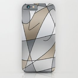 ABSTRACT CURVES #2 (Grays & Beiges) iPhone Case