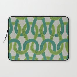 KNIT WIT LEAF with Concrete backround Laptop Sleeve