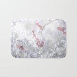 Winter Scene Rowan Berries With Snow And Bokeh #decor #buyart #society6 Bath Mat