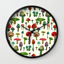 littel mushrooms Wall Clock