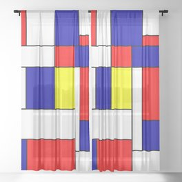 Mondrian #38 Sheer Curtain