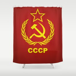 CCCP Cold War Flag Shower Curtain
