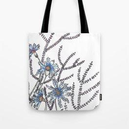 Flower Garden Abstract Art Design Tote Bag