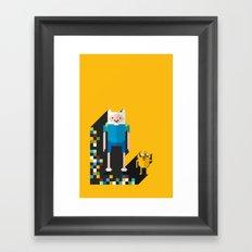 finn the pixel Framed Art Print