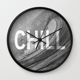 Chill Waves Wall Clock