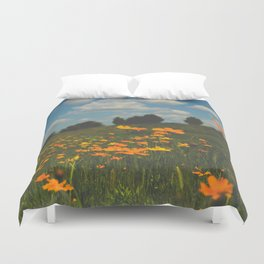 Dreaming in a Summer Field Duvet Cover