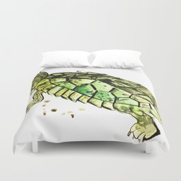 False Map Turtle Duvet Cover