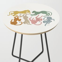 Rainbow Cheetah Side Table