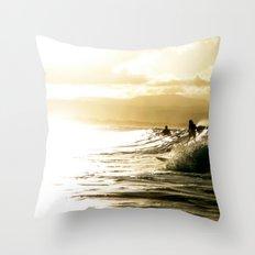 Surf Sunset Throw Pillow