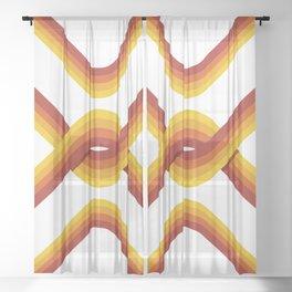 Retro Stripe Light Sheer Curtain