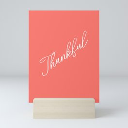 Thankful Living Coral Mini Art Print