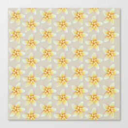 Yellow Flower, Floral Pattern, Yellow Blossom Canvas Print