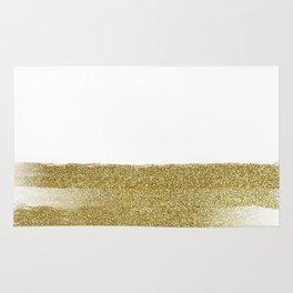 White Glitter Rug
