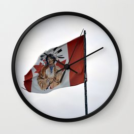 Flag in the Deh Cho Wall Clock