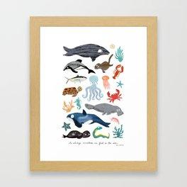 Sea Change: Ocean Animals Framed Art Print