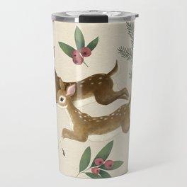winter deer // repeat pattern Travel Mug