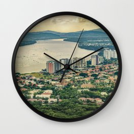 Aerial View of Guayaquil from Window Plane Wall Clock