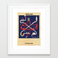 england Framed Art Prints featuring England by federico babina