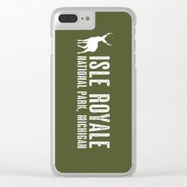 Isle Royale Deer Clear iPhone Case