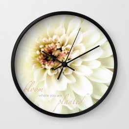 Pom Pon - iPhoneography Wall Clock