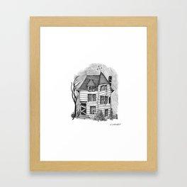 Rundown Haunted House Framed Art Print