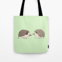 Two Hedgehogs Tote Bag